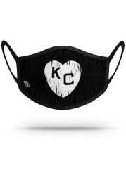 Strideline Kansas City Monarchs Black Heart Fan Mask