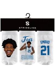 Joel Embiid Strideline Philadelphia 76ers 3PK Baby Quarter Socks