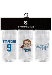 Matthew Stafford Strideline Detroit Lions 3PK Baby Quarter Socks