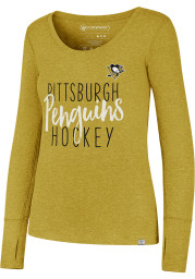 47 Pittsburgh Penguins Womens Gold Forward Athleisure Tee