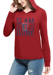 47 Detroit Pistons Womens Red Crosstown Hooded Sweatshirt