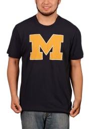 47 Michigan Wolverines Navy Blue Knockout Fieldhouse Short Sleeve Fashion T Shirt