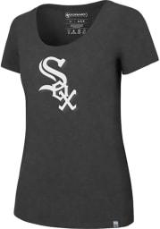 47 Chicago White Sox Womens Black High Point Alternate Logo SS Athleisure Tee