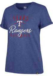 47 Texas Rangers Womens Blue Match Hero Short Sleeve T-Shirt
