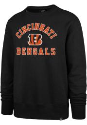 47 Cincinnati Bengals Mens Black Arch Long Sleeve Crew Sweatshirt