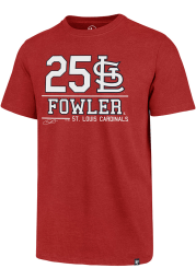 Dexter Fowler St Louis Cardinals Red Club Short Sleeve Fashion Player T Shirt