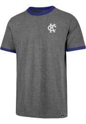 47 Kansas City Athletics Grey Rundown Ringer Short Sleeve Fashion T Shirt
