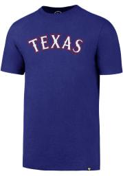 47 Texas Rangers Blue Super Rival Short Sleeve T Shirt