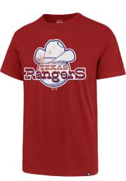 47 Texas Rangers Red Super Rival Short Sleeve T Shirt