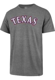 47 Texas Rangers Grey Super Rival Short Sleeve T Shirt