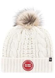 47 Detroit Pistons White Meeko Cuff Knit Womens Knit Hat
