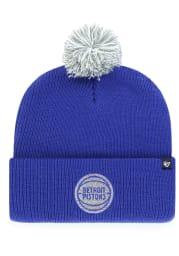 47 Detroit Pistons Blue Shiver Cuff Knit Mens Knit Hat