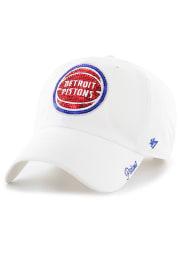 47 Detroit Pistons White Sparkle Clean Up Womens Adjustable Hat