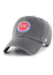 47 Detroit Pistons Clean Up Adjustable Hat - Charcoal