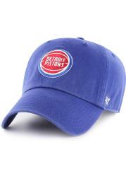 47 Detroit Pistons Clean Up Adjustable Hat - Blue