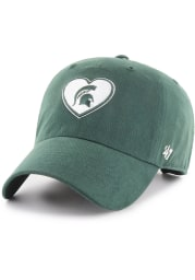 47 Michigan State Spartans Green Courtney W Clean Up Womens Adjustable Hat