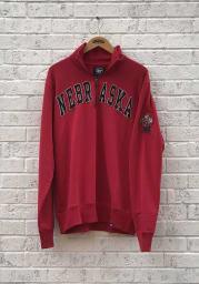47 Nebraska Cornhuskers Mens Red Striker Long Sleeve 1/4 Zip Fashion Pullover