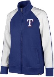 47 Texas Rangers Womens Blue Headline Long Sleeve Track Jacket