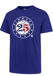 Ben Simmons Philadelphia 76ers Blue Name and Number Short Sleeve Player T Shirt