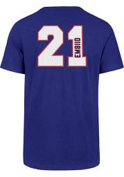 Joel Embiid Philadelphia 76ers Blue Name and Number Short Sleeve Player T Shirt