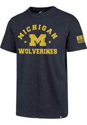 47 Michigan Wolverines Navy Blue OHT Short Sleeve T Shirt