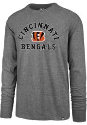 47 Cincinnati Bengals Grey Varsity Arch Long Sleeve T Shirt