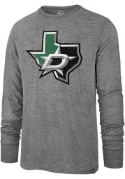 47 Dallas Stars Grey Imprint Match Long Sleeve Fashion T Shirt
