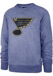 47 St Louis Blues Mens Blue Imprint Match Long Sleeve Fashion Sweatshirt