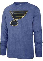 47 St Louis Blues Blue Imprint Match Long Sleeve Fashion T Shirt