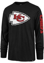 47 Kansas City Chiefs Black Sleeve Wordmark Long Sleeve T Shirt