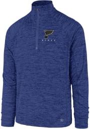 47 St Louis Blues Mens Blue Impact Long Sleeve 1/4 Zip Pullover
