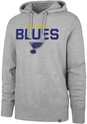 47 St Louis Blues Mens Grey Pregame Headline Long Sleeve Hoodie