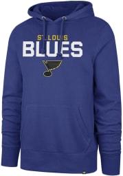 47 St Louis Blues Mens Blue Pregame Headline Long Sleeve Hoodie