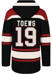 Jonathan Toews 47 Chicago Blackhawks Mens Black Superior Lacer Fashion Hood