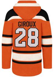 Claude Giroux 47 Philadelphia Flyers Mens Orange Superior Lacer Fashion Hood