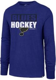 47 St Louis Blues Blue Blockout Club Long Sleeve T Shirt
