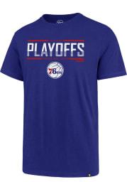 47 Philadelphia 76ers Blue Playoffs Super Rival Short Sleeve T Shirt