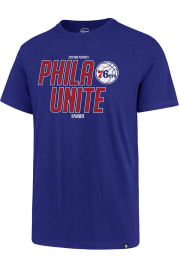 47 Philadelphia 76ers Blue PHILA Unite Super Rival Short Sleeve T Shirt