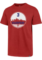 Bryce Harper Philadelphia Phillies Red Club Short Sleeve Player T Shirt