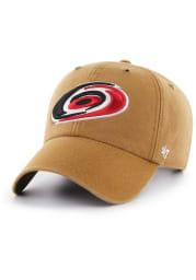'47 Carolina Hurricanes Carhartt Clean Up Adjustable Hat - Brown
