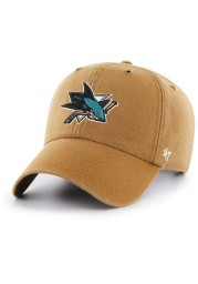47 San Jose Sharks Carhartt Clean Up Adjustable Hat - Brown
