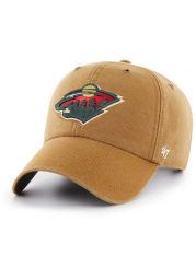 47 Minnesota Wild Carhartt Clean Up Adjustable Hat - Brown