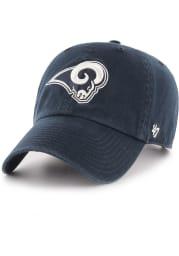 47 Los Angeles Rams Clean Up Adjustable Hat - Navy Blue