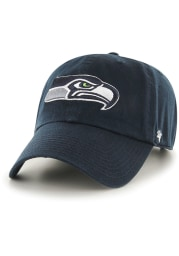 47 Seattle Seahawks Clean Up Adjustable Hat - Navy Blue