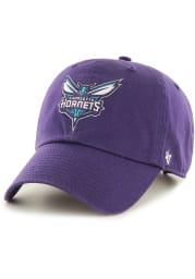 47 Charlotte Hornets Clean Up Adjustable Hat - Purple