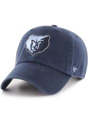 47 Memphis Grizzlies Clean Up Adjustable Hat - Navy Blue
