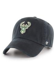 47 Milwaukee Bucks Clean Up Adjustable Hat - Black