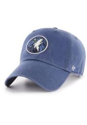 47 Minnesota Timberwolves Clean Up Adjustable Hat - Blue