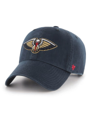47 New Orleans Pelicans Clean Up Adjustable Hat - Navy Blue