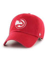 47 Atlanta Hawks Clean Up Adjustable Hat - Red